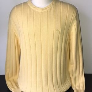 DOCKERS SWEATER MENS YELLOW PULLOVER RIBBED